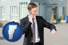 vermont map icon and a business broker